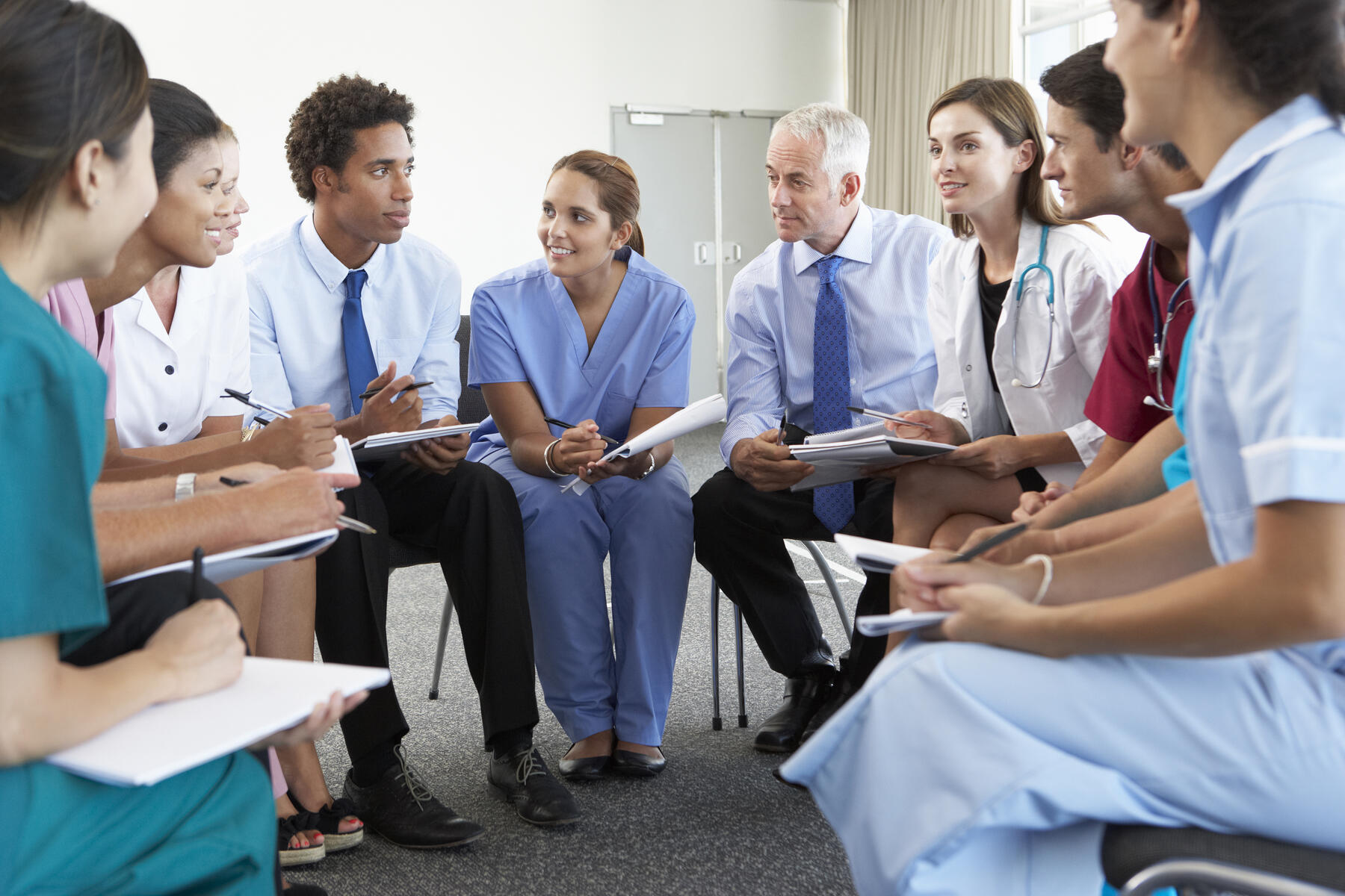 Team of hospital employees